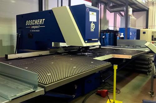 Punzonadora CNC Boschert Compact Rotation. Maquinaria de ocasión. Lomusa